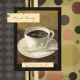 Drinking French Vanilla Coffee Posters tekijänä Carol Robinson