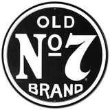 Jack Daniels Old Number 7 Plaque en métal