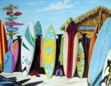 Surf-Hütte Blechschild