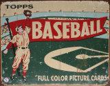 Topps Baseball 1954 Metalen bord