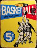 Topps Basketball 1957 Tin Sign