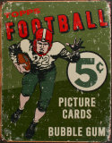 Topps Football 1956 Plaque en métal