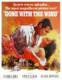 Filmposter Gejaagd door de wind, Gone With The Wind, 1939 Metalen bord