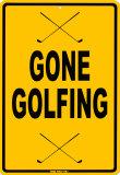 Gone Golfing Carteles metálicos