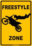 Freestyle Zone Placa de lata