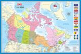 Carte du Canada Affiches