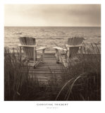 Beach Chairs Prints by Christine Triebert