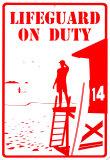 Lifeguard On Duty Placa de lata