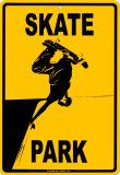 Skate Park Blechschild