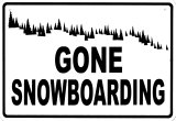 Gone Snowboarding Placa de lata