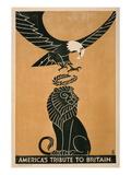 America's Tribute to Britain, circa 1917 Plakater av Frederic G. Cooper