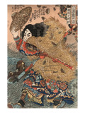 Kinhyoshi Yorin, Hero of the Suikoden Posters por Kuniyoshi Utagawa