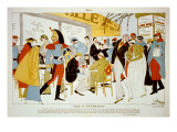 Paris in Half-Mourning Print by Ralph Barton