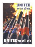 United We are Strong, United We Can Win Poster van Henry Koerner