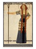 Richard Strauss Music Festival, circa 1910 Plakat av Ludwig Hohlwein