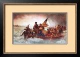 Washington Crossing the Delaware, c.1851 Print by Emanuel Leutze