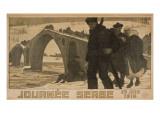 Journee Serbe. 25 Juin 1916 Poster van Pierre Mourgue