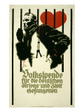 People's Fund for German War and Civil Prisoners Posters por Ludwig Hohlwein