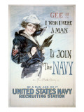 Gee!! I Wish I were a Man, circa 1918 Poster van Howard Chandler Christy