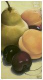 Pear, Apricots and Cherries Posters par Sylvia Gonzalez