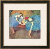 Two Dancers at Rest Or, Dancers in Blue, circa 1898 Prints by Edgar Degas