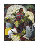 The Flower Vendor Posters by Diego Rivera