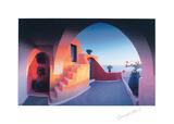 Sonnenerleuchtete Stufen Kunstdrucke von Georges Meis