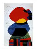 Femme aux Trois Cheveux Print by Joan Miró