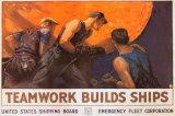 Teamwork Builds Ships Foto
