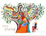 Lang leve de liefde Affiches van Niki De Saint Phalle