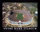 Notre Dame Stadium Kunstdruck
