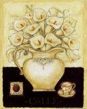 White Callas and Blackberry Poster von G.p. Mepas