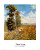 Field with Poppies Posters av Claude Monet