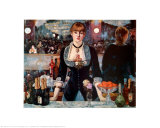 Bar at the Folies-Bergere Print by Edouard Manet