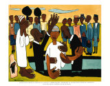 Je te baptise Affiches par William H. Johnson