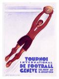 Tournoi de Football, Geneve Giclée-tryk af Noel Fontanet