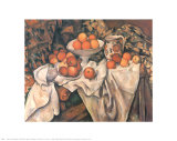 Still Life with Apples and Oranges, c.1895-1900 Póster por Paul Cézanne