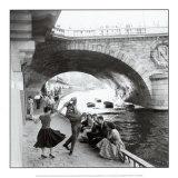 Rock 'n' Roll en el muelle de París Láminas por Paul Almasy