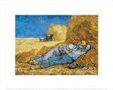 Siesta Posters av Vincent van Gogh