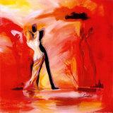Romanze in Rot II Romance in Red II Kunstdrucke von Alfred Gockel