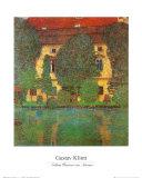 Schloss Kammer at Attersee Pôsteres por Gustav Klimt