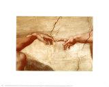Skabelsen af Adam, ca. 1510 (detaljer) Plakater af Michelangelo Buonarroti,