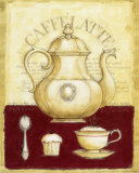 Caffe Latte and Cupcake Posters by G.p. Mepas
