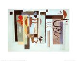 Deux Points Verts Affiches par Wassily Kandinsky