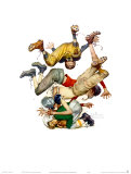 First Down Pôsters por Norman Rockwell