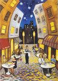 Nighttime Cafe Prints by David Marrocco