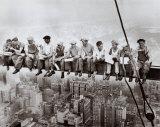 Almuerzo en lo alto de un rascacielos, c.1932 Láminas por Charles C. Ebbets
