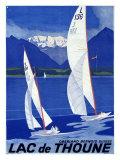 スイス・トゥーン湖のポスター ジクレープリント