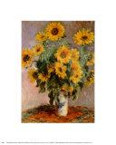 Sunflowers, c.1881 Poster por Claude Monet