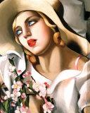 Porträt eines Mädchen Poster von Tamara de Lempicka
